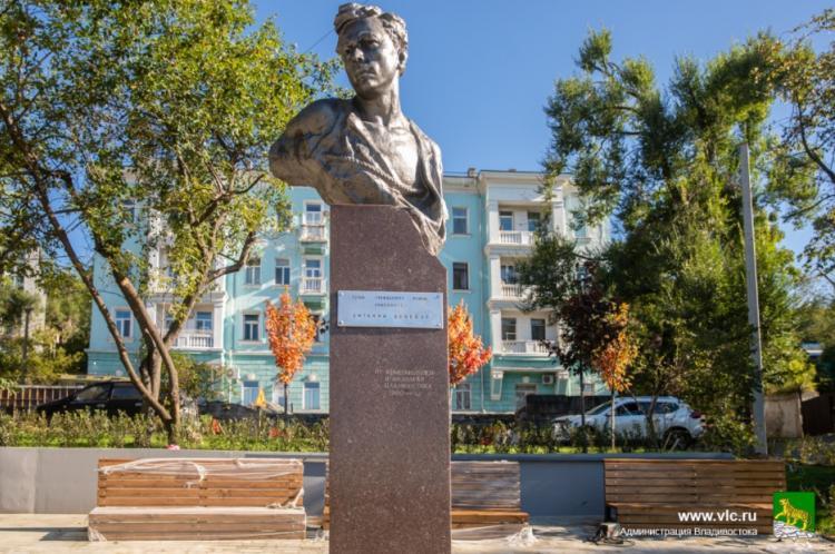 Благоустроенный по нацпроекту сквер Комсомольцев откроют во Владивостоке
