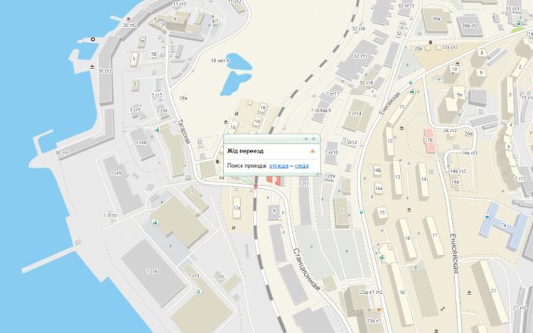 В ночь на вторник во Владивостоке закроют ж/д переезд в районе Татарской