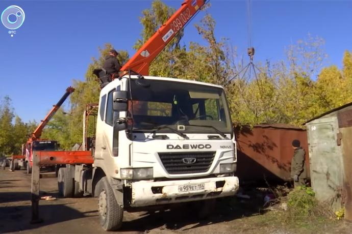 Снос 500 гаражей начался в Октябрьском районе Новосибирска