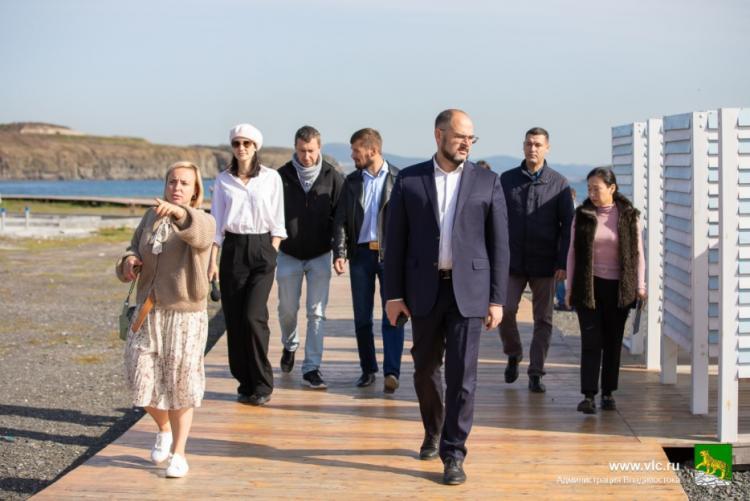 На пляже мыса Ахлестышева благоустраивают съезд